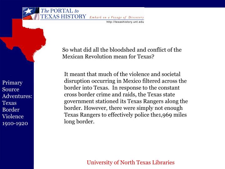 So what did all the bloodshed and conflict of the Mexican Revolution mean for Texas?