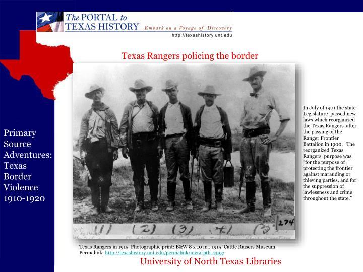Texas Rangers policing the border