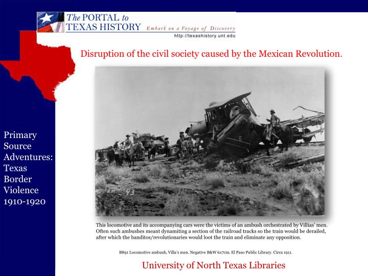 Disruption of the civil society caused by the Mexican Revolution