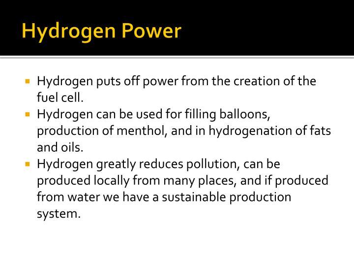 Hydrogen Power