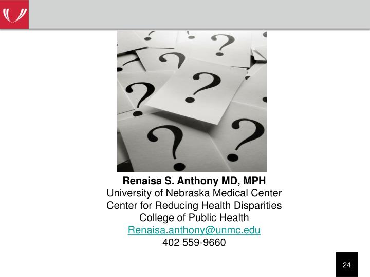 Renaisa S. Anthony MD, MPH