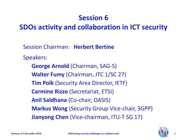 Session 6 sdos activity and collaboration in ict security