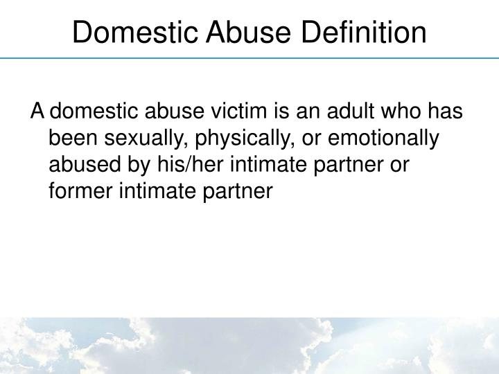 Domestic Abuse Definition