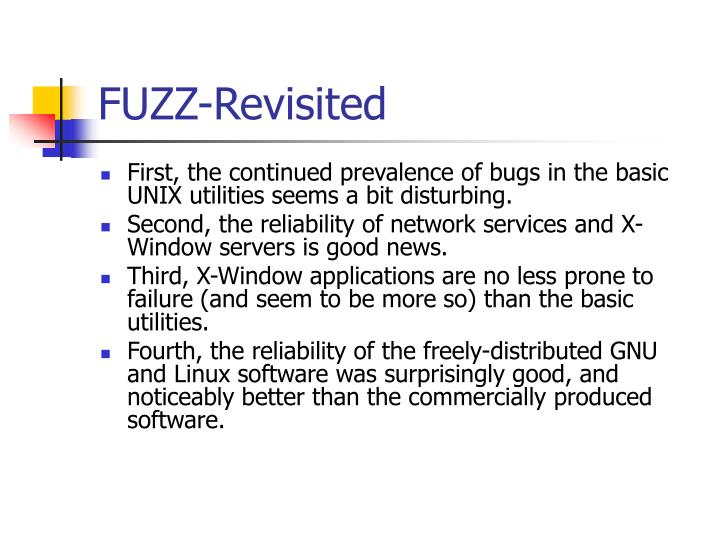 FUZZ-Revisited
