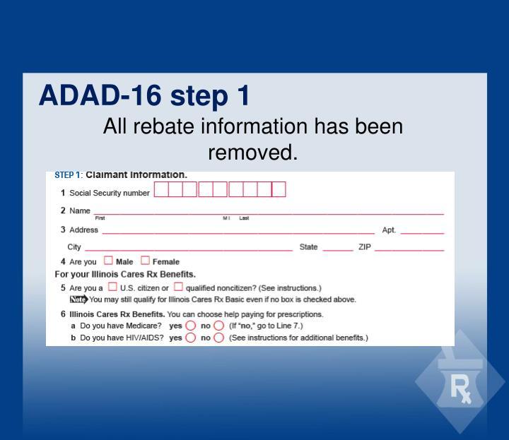 ADAD-16 step 1