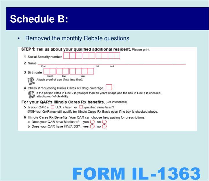 Schedule B: