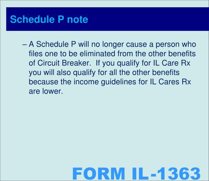 Schedule P note