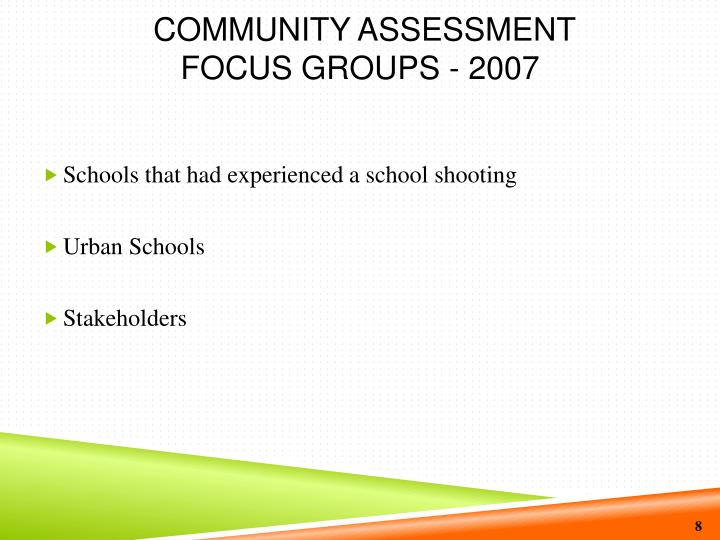 Community Assessment
