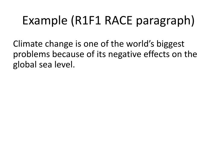 Example (R1F1 RACE paragraph)