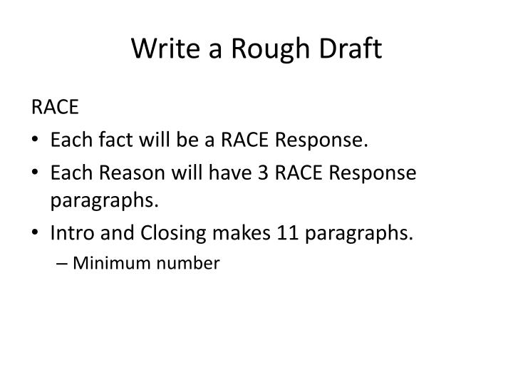 Write a Rough Draft