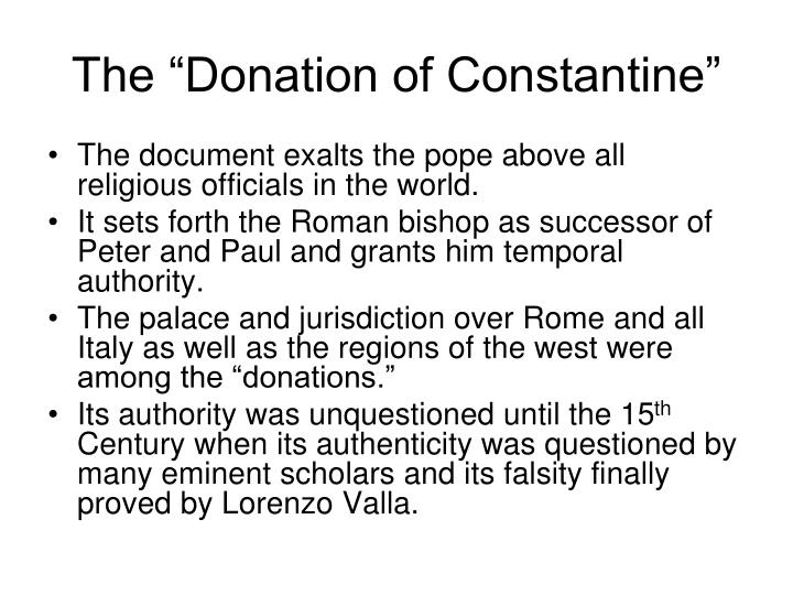 "The ""Donation of Constantine"""