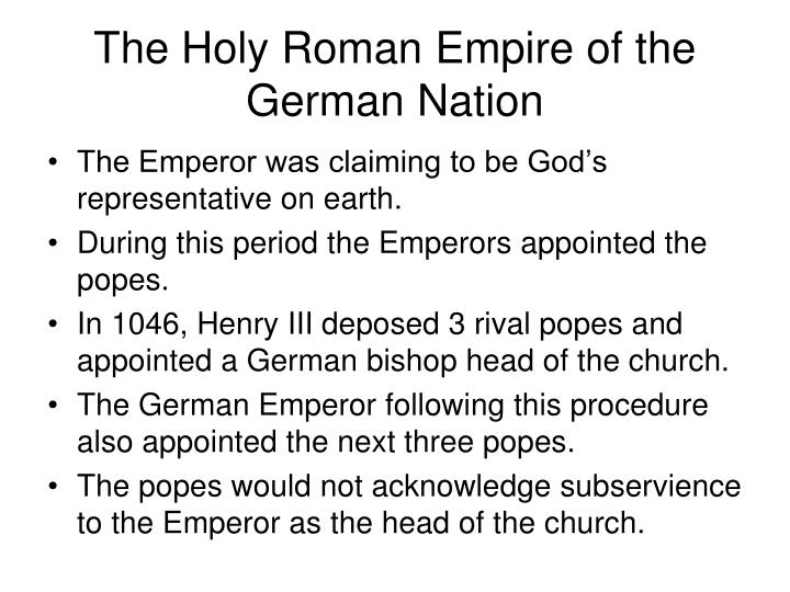 The Holy Roman Empire of the German Nation