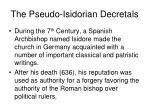 the pseudo isidorian decretals