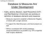 database measures are under development