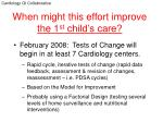 when might this effort improve the 1 st child s care
