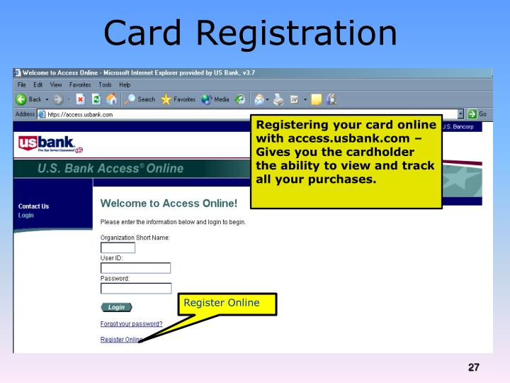 Card Registration