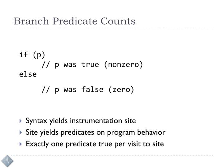 Branch Predicate Counts