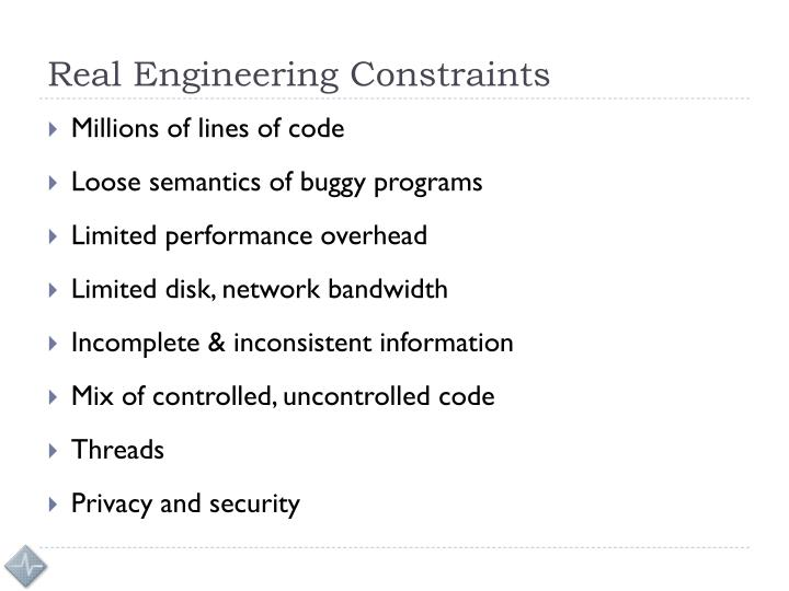 Real Engineering Constraints