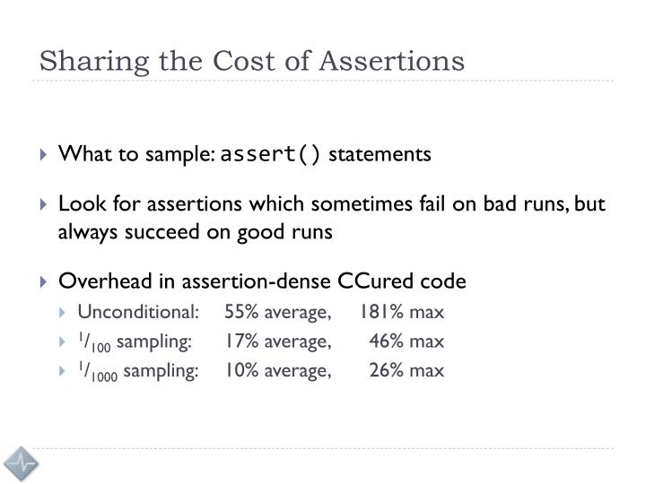 Sharing the Cost of Assertions