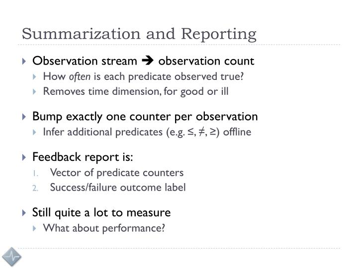 Summarization and Reporting