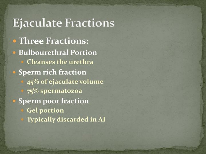 Ejaculate Fractions