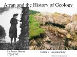arran and the history of geology