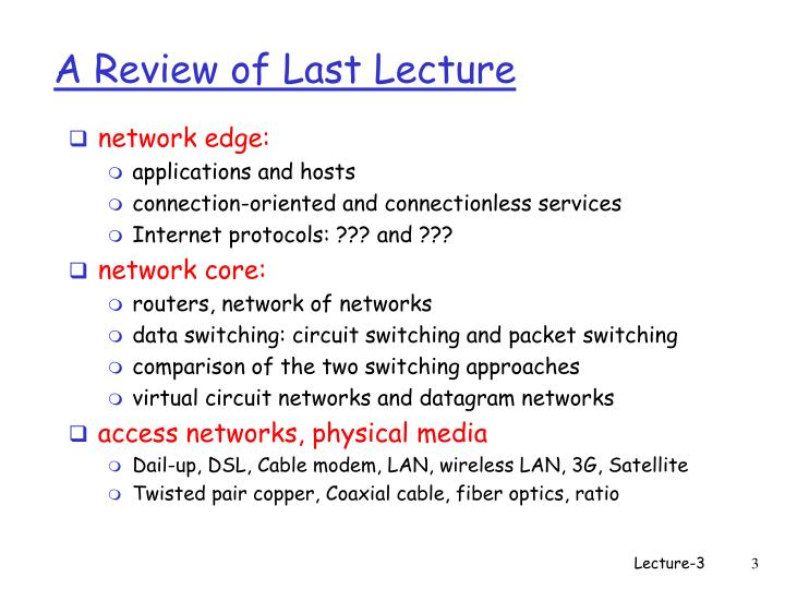 A review of last lecture