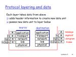 protocol layering and data
