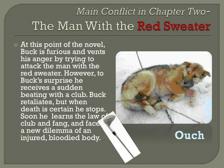 Main conflict in chapter two the man with the red sweater