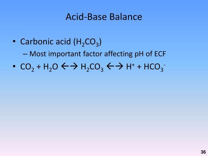 Acid-Base Balance
