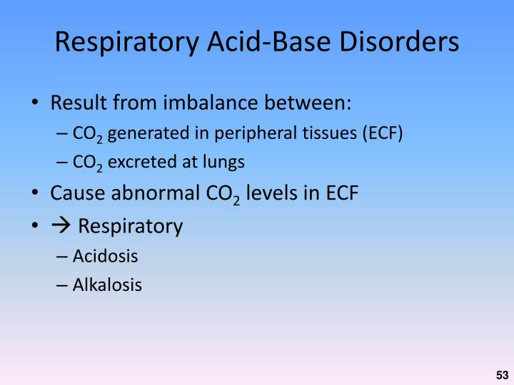 Respiratory Acid-Base Disorders