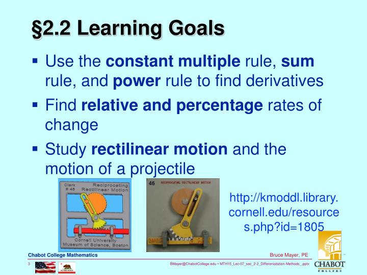 §2.2 Learning Goals