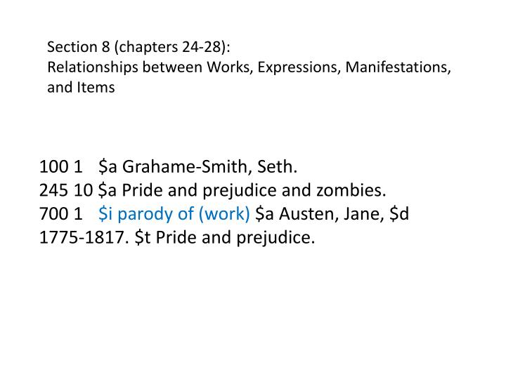 Section 8 (chapters 24-28):