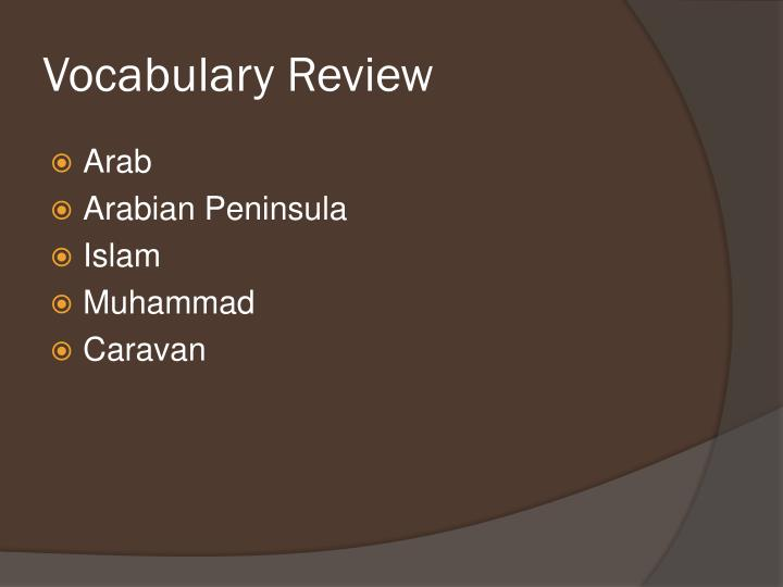 Vocabulary Review