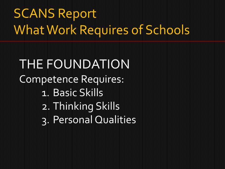SCANS Report