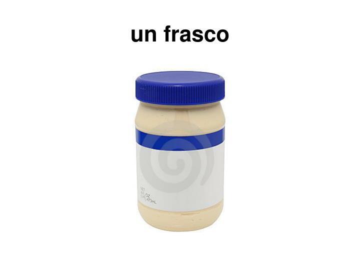 un frasco