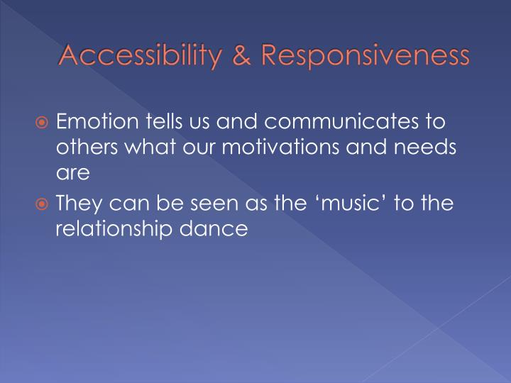 Accessibility & Responsiveness