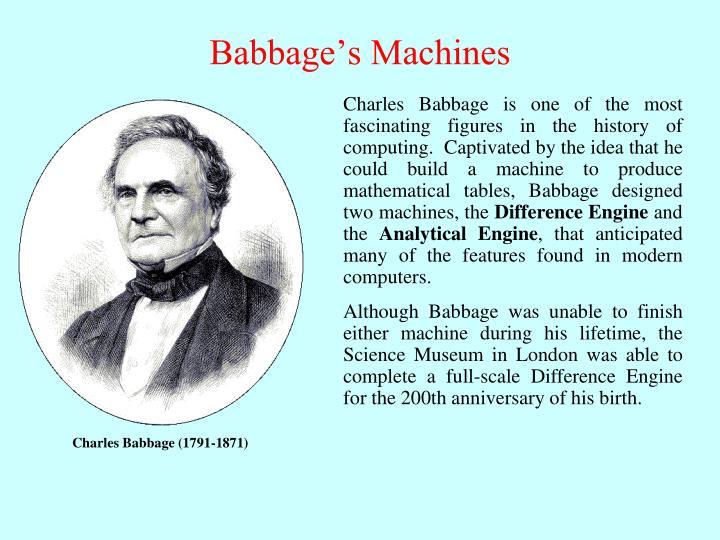 Babbage's Machines
