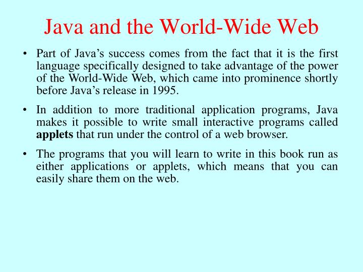 Java and the World-Wide Web