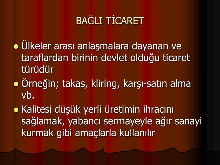 BALI TCARET
