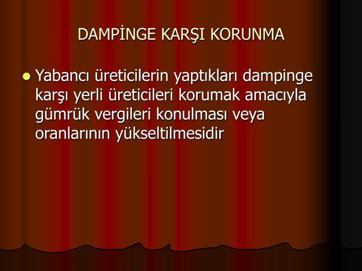DAMPNGE KARI KORUNMA
