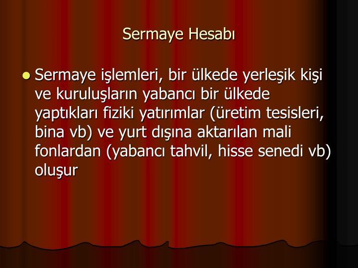 Sermaye Hesab