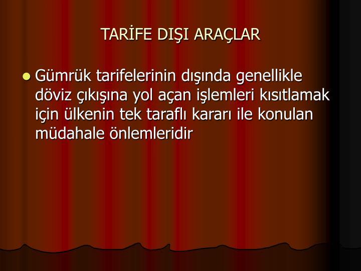 TARFE DII ARALAR