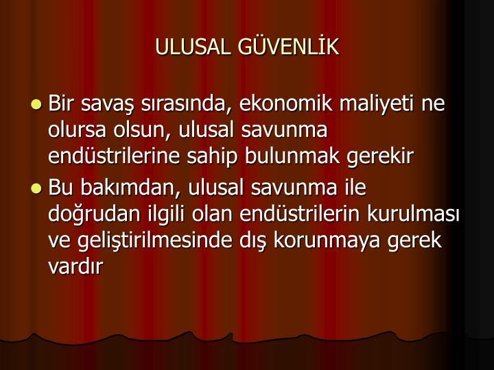 ULUSAL GÜVENLİK