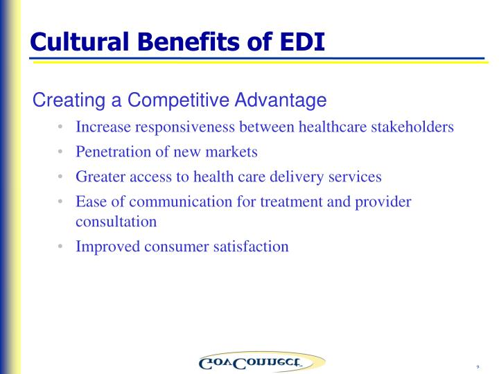 Cultural Benefits of EDI
