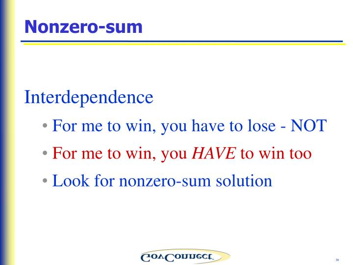 Nonzero-sum