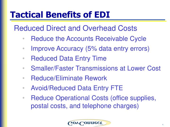 Tactical Benefits of EDI