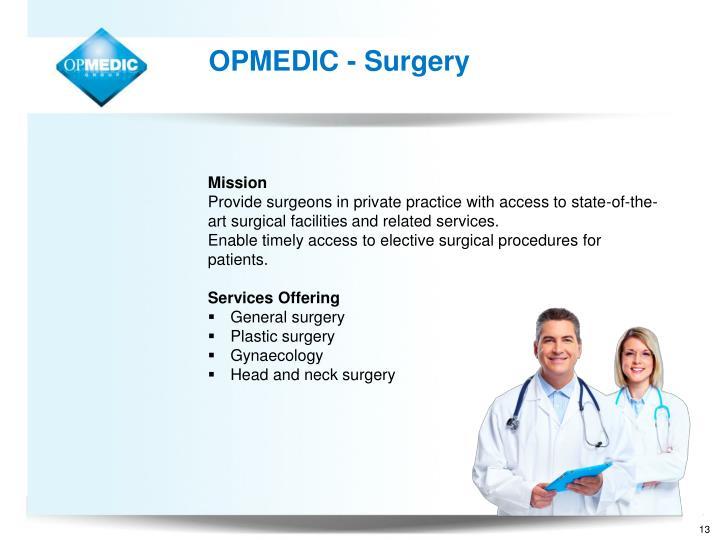 OPMEDIC - Surgery