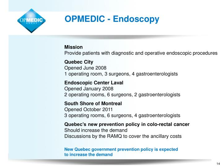 OPMEDIC - Endoscopy