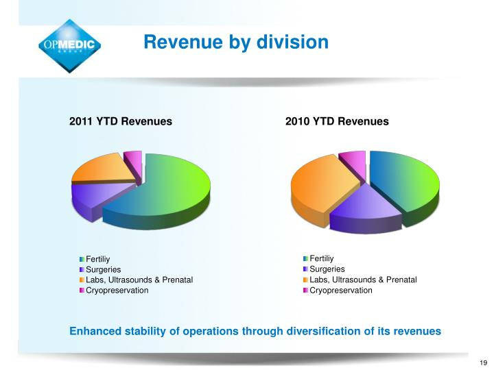 Revenue by division
